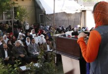 Latifa delivers speech in an event of OPAWC
